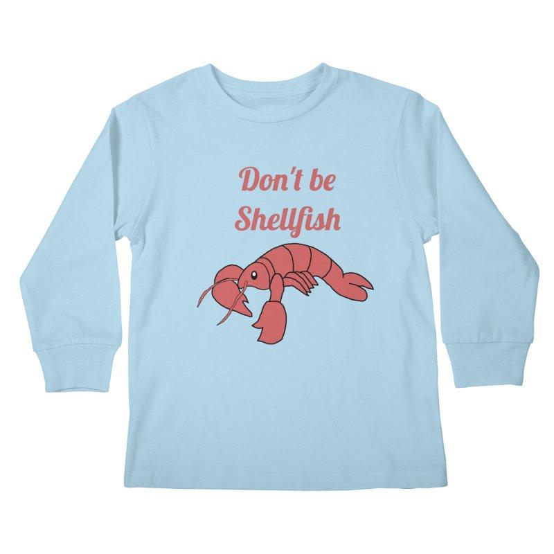Shellfish Lobster Kids Longsleeve T-Shirt by Birchmark