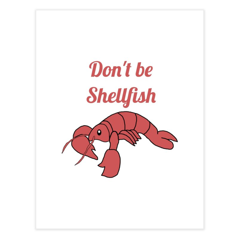 Shellfish Lobster Home Fine Art Print by Birchmark