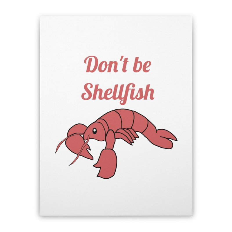 Shellfish Lobster Home Stretched Canvas by Birchmark