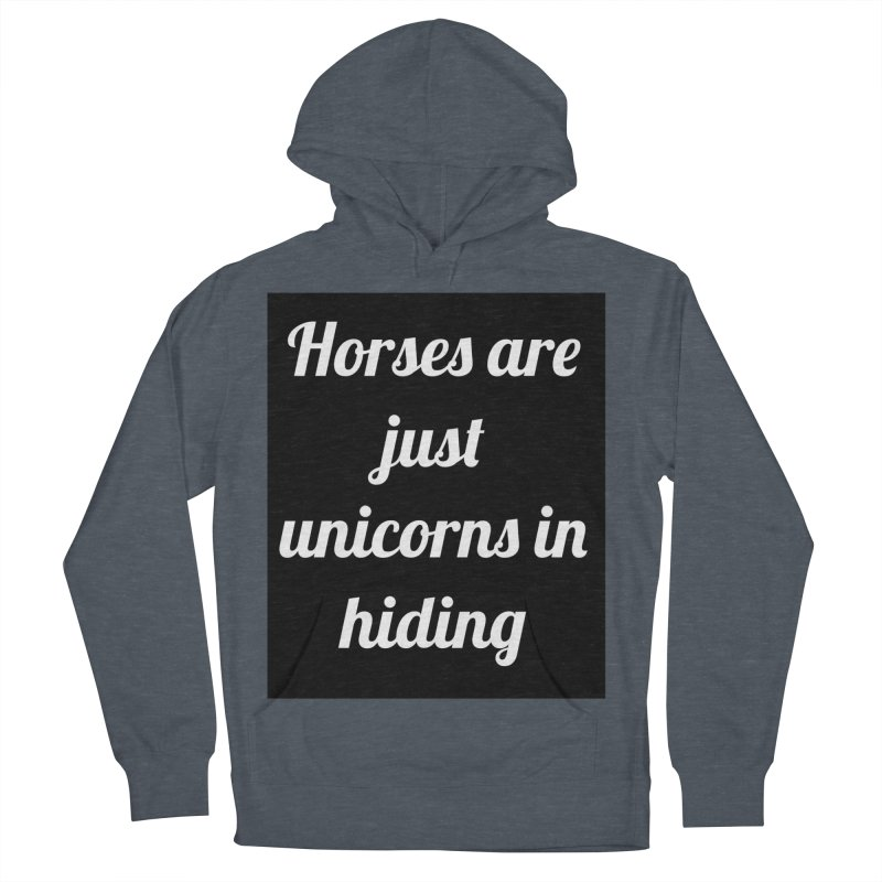 Unicorns in Hiding Men's Pullover Hoody by Birchmark