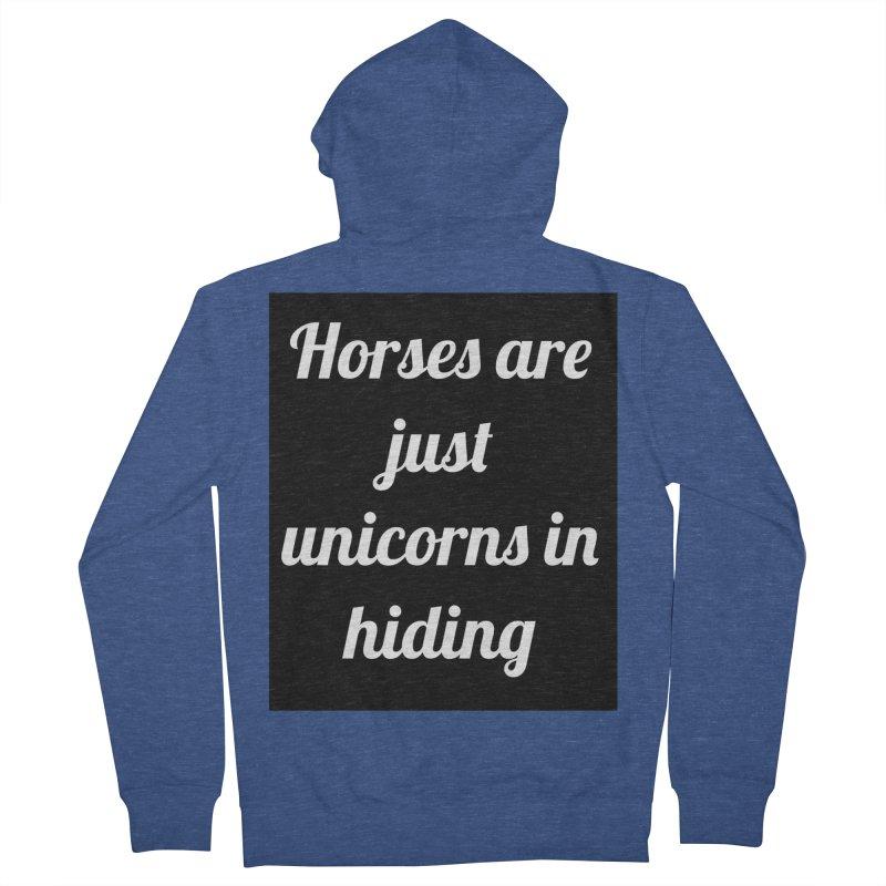 Unicorns in Hiding Men's Zip-Up Hoody by Birchmark