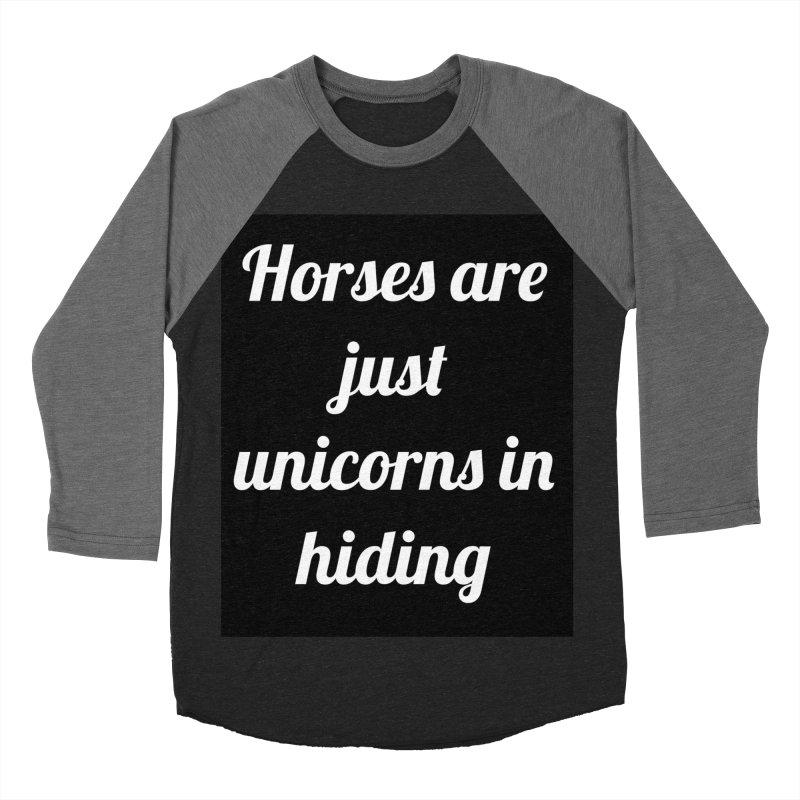 Unicorns in Hiding Women's Baseball Triblend T-Shirt by Birchmark
