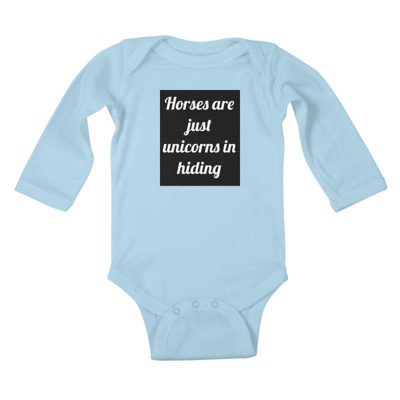 Unicorns in Hiding Kids Baby Longsleeve Bodysuit by Birchmark