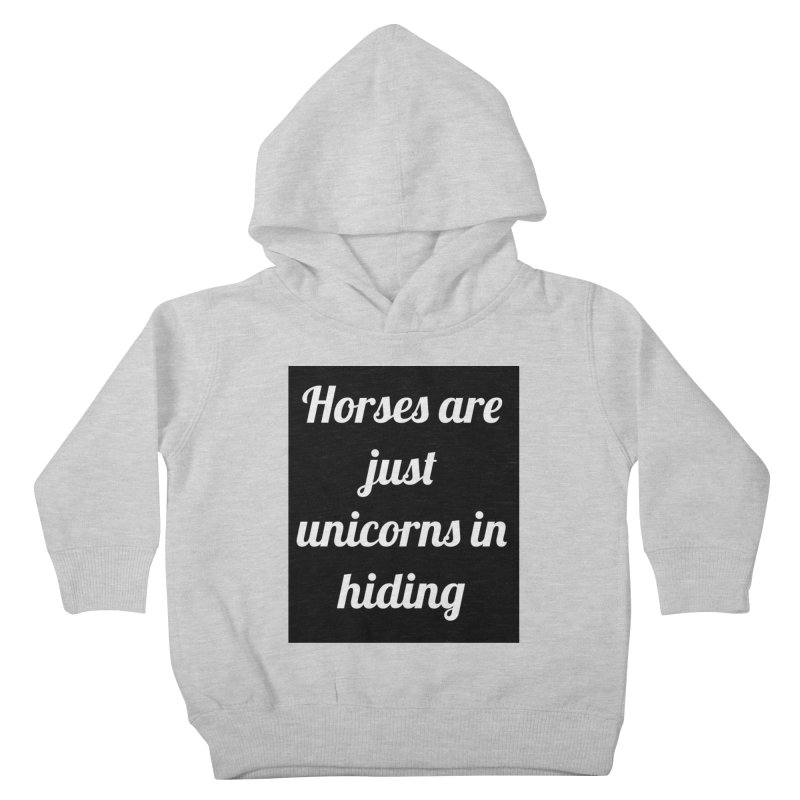 Unicorns in Hiding Kids Toddler Pullover Hoody by Birchmark