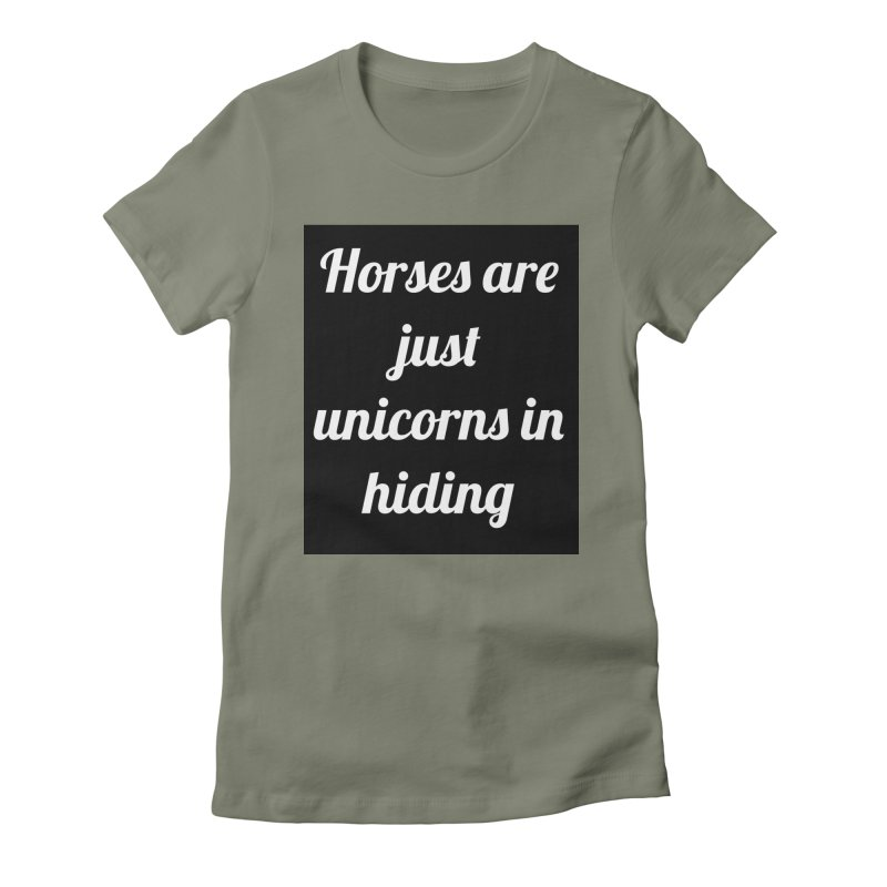 Unicorns in Hiding Women's Fitted T-Shirt by Birchmark