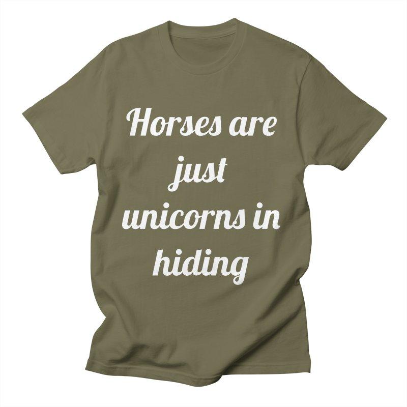 Unicorns in Hiding Men's T-Shirt by Birchmark