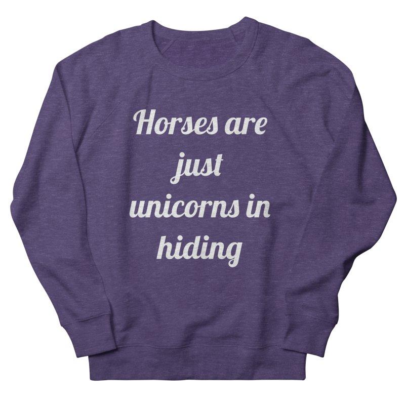 Unicorns in Hiding Women's Sweatshirt by Birchmark