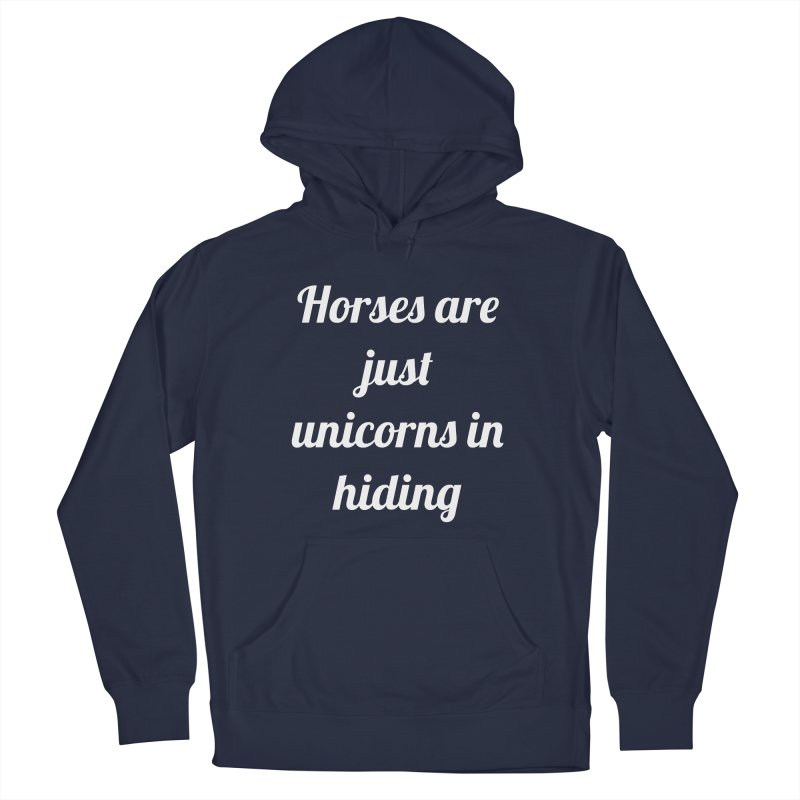 Unicorns in Hiding Men's Pullover Hoody by Birchmark