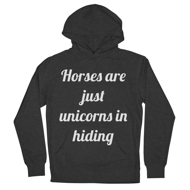 Unicorns in Hiding Women's French Terry Pullover Hoody by Birchmark