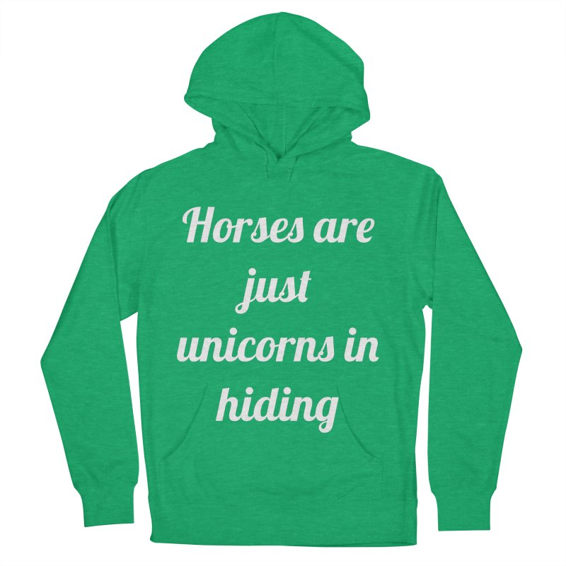 Unicorns in Hiding Men's French Terry Pullover Hoody by Birchmark