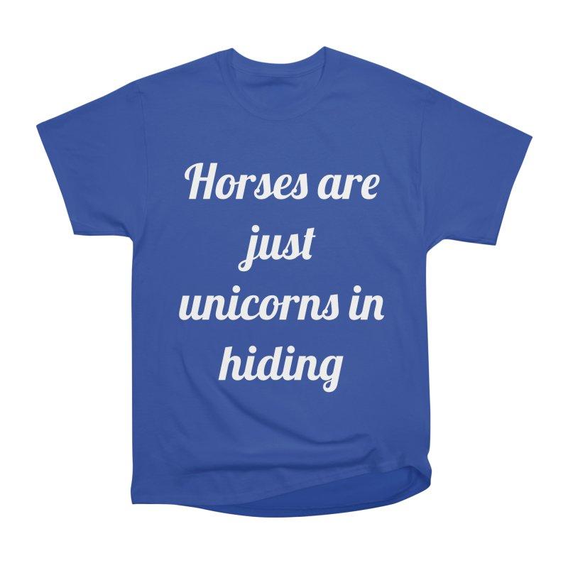 Unicorns in Hiding Men's Heavyweight T-Shirt by Birchmark