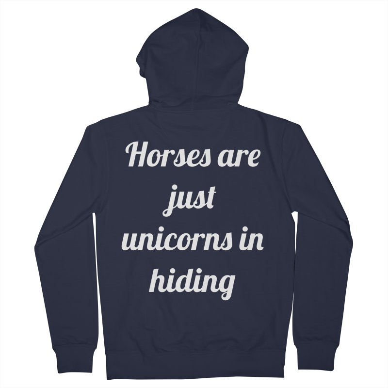 Unicorns in Hiding Women's French Terry Zip-Up Hoody by Birchmark
