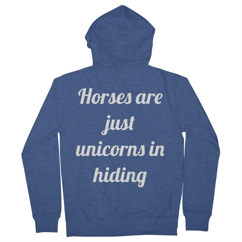 Unicorns in Hiding Men's French Terry Zip-Up Hoody by Birchmark