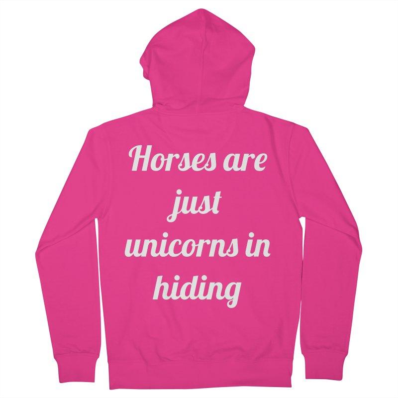 Unicorns in Hiding Men's French Terry Zip-Up Hoody by Birchmark