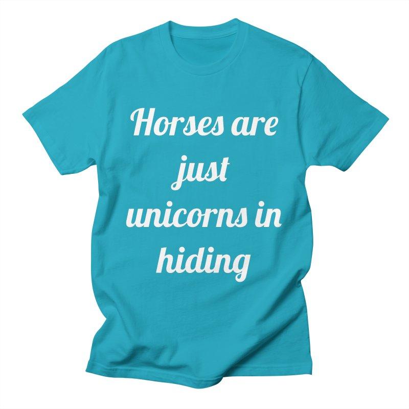 Unicorns in Hiding Men's Regular T-Shirt by Birchmark