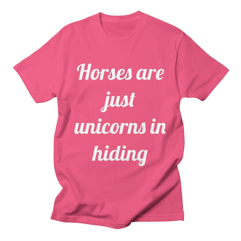 Unicorns in Hiding Men's Regular T-Shirt by Birchmark