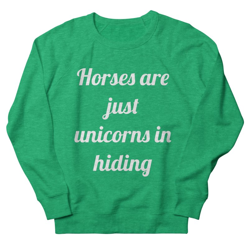 Unicorns in Hiding Women's French Terry Sweatshirt by Birchmark