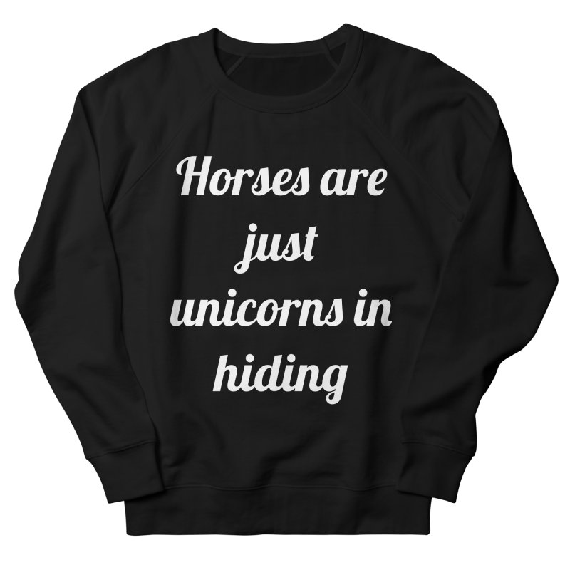Unicorns in Hiding Women's Sweatshirt by Birchmark