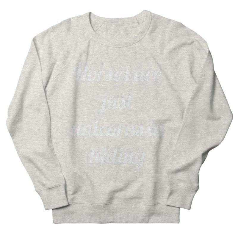 Unicorns in Hiding Men's French Terry Sweatshirt by Birchmark