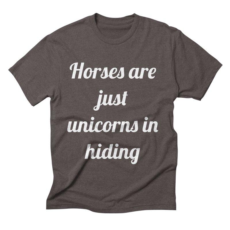 Unicorns in Hiding Men's Triblend T-Shirt by Birchmark