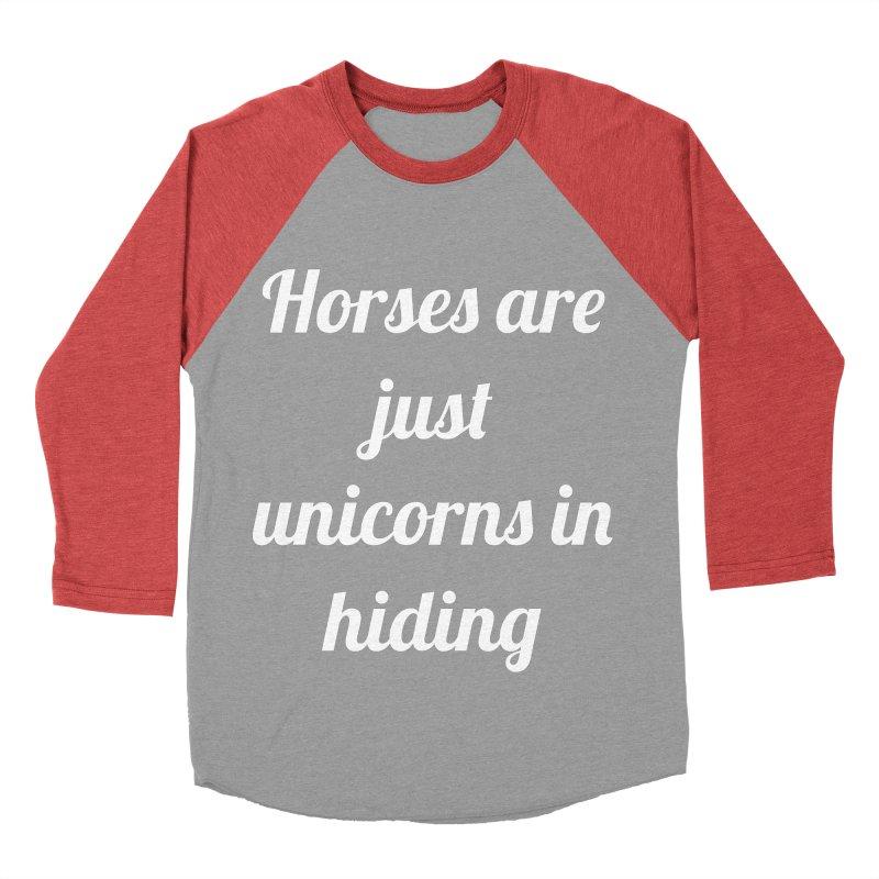 Unicorns in Hiding Men's Baseball Triblend T-Shirt by Birchmark