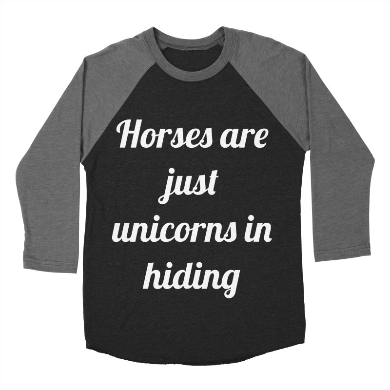 Unicorns in Hiding Men's Baseball Triblend T-Shirt by Birchmark