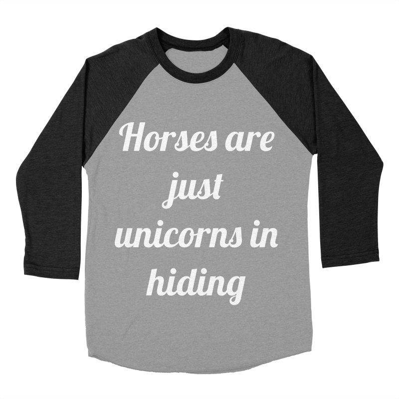 Unicorns in Hiding Men's Baseball Triblend Longsleeve T-Shirt by Birchmark