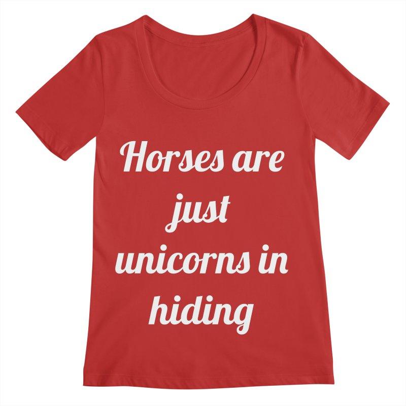 Unicorns in Hiding Women's Regular Scoop Neck by Birchmark