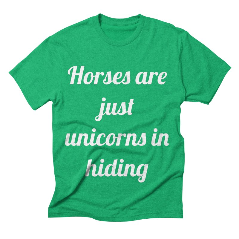 Unicorns in Hiding Men's Triblend T-shirt by Birchmark