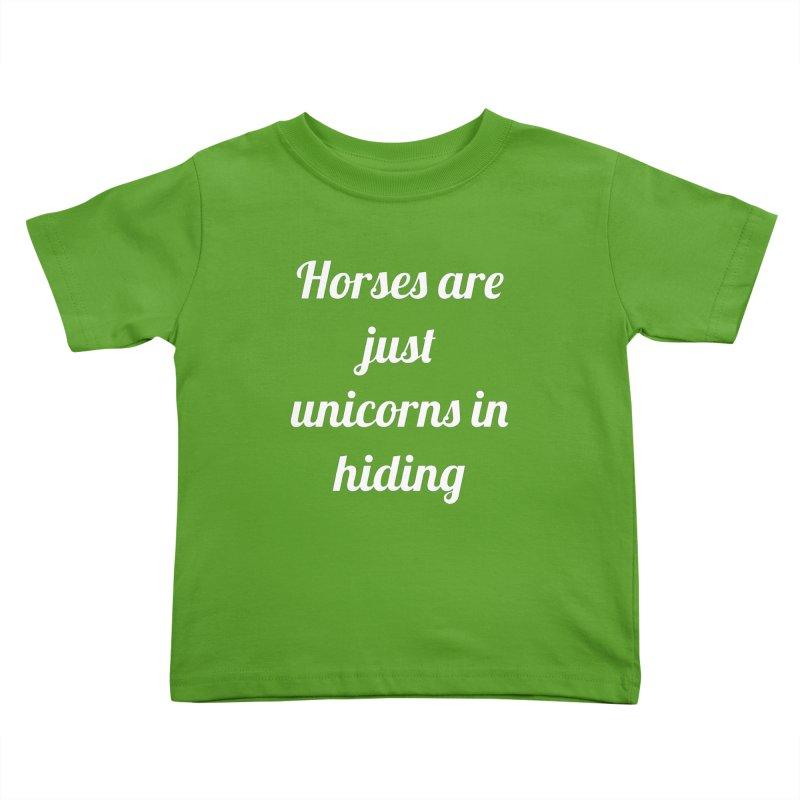 Unicorns in Hiding Kids Toddler T-Shirt by Birchmark
