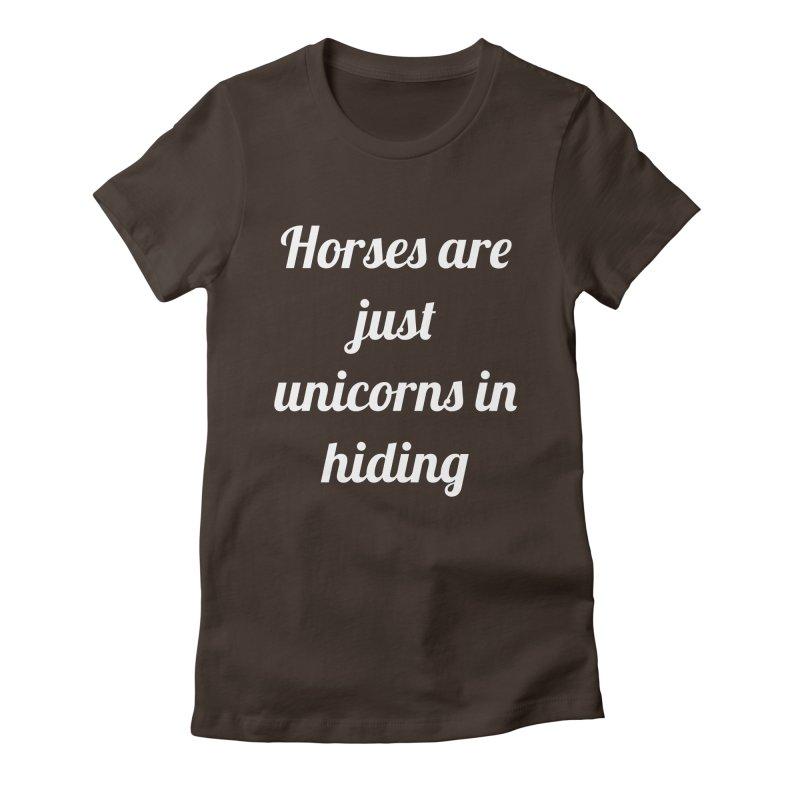 Unicorns in Hiding Women's T-Shirt by Birchmark