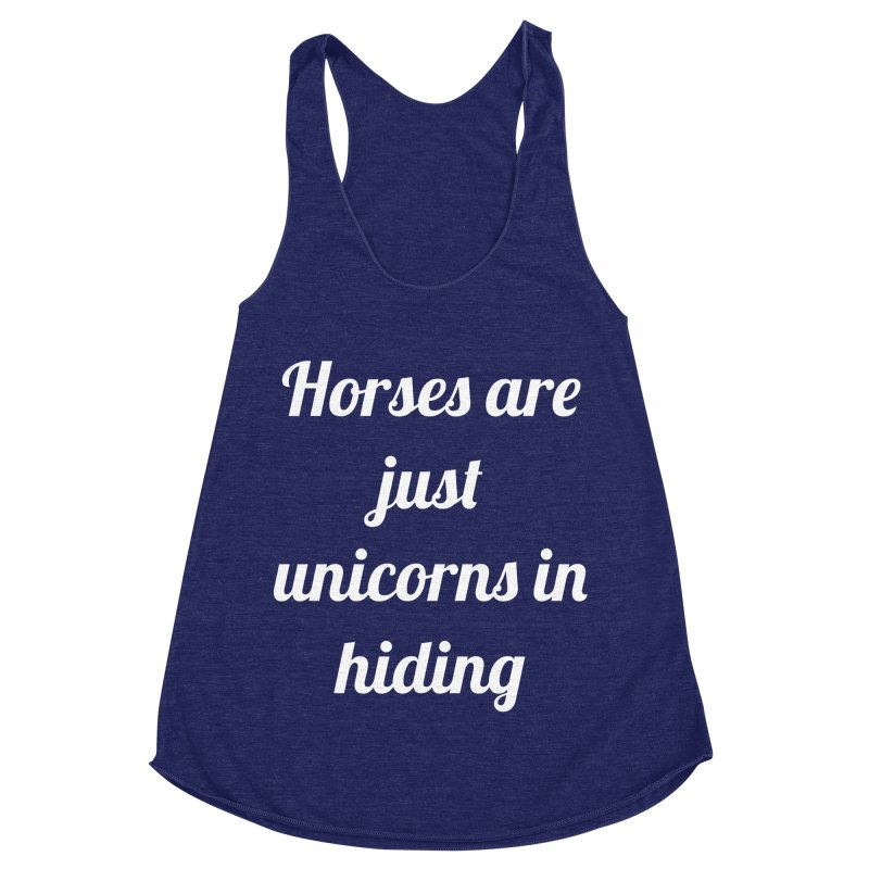 Unicorns in Hiding Women's Racerback Triblend Tank by Birchmark