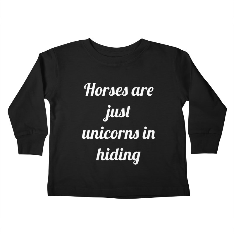 Unicorns in Hiding Kids Toddler Longsleeve T-Shirt by Birchmark
