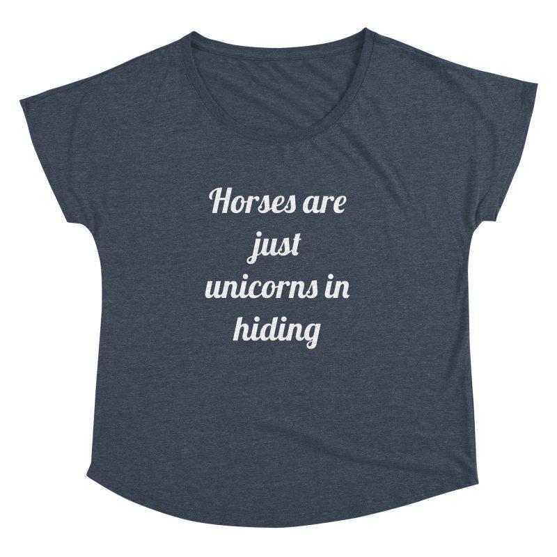 Unicorns in Hiding Women's Dolman by Birchmark