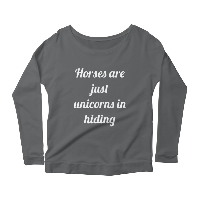 Unicorns in Hiding Women's Longsleeve Scoopneck  by Birchmark