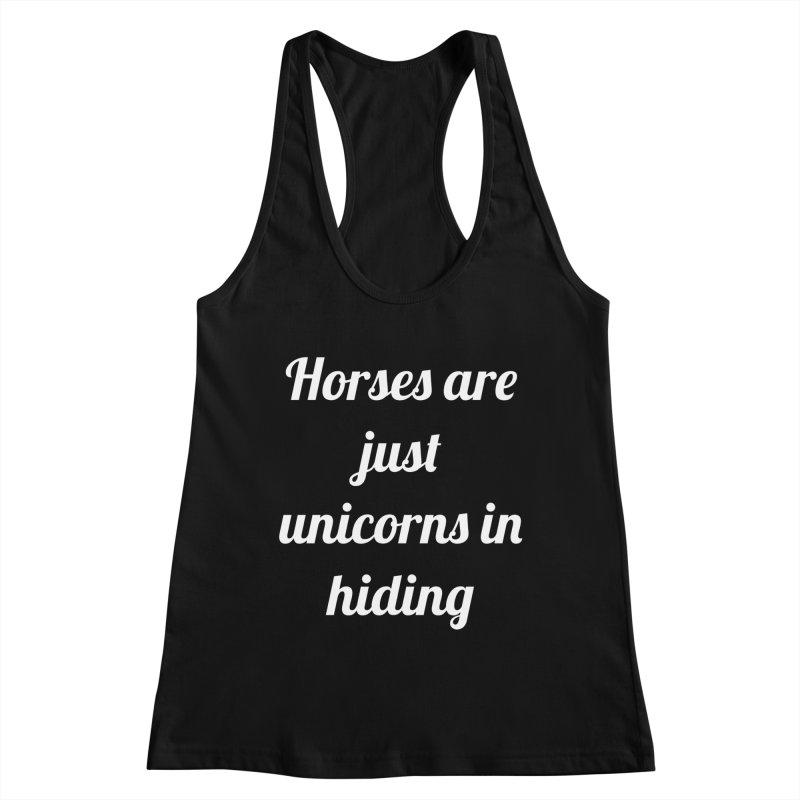 Unicorns in Hiding Women's Tank by Birchmark