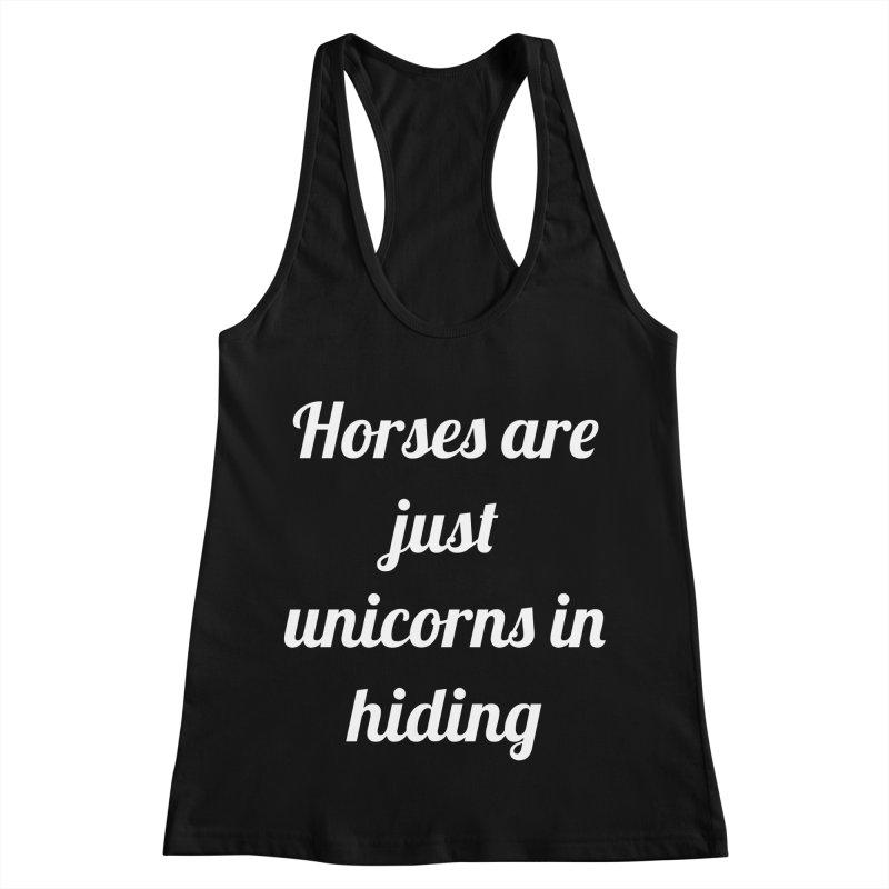 Unicorns in Hiding Women's Racerback Tank by Birchmark