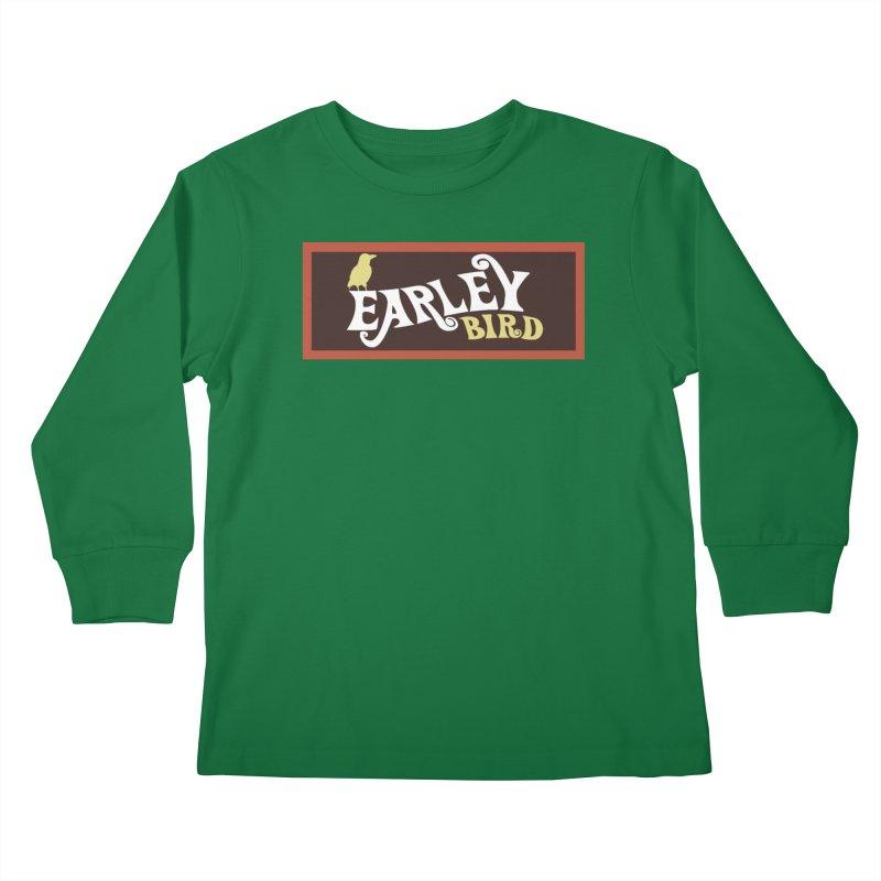 Earleybird Bar Kids Longsleeve T-Shirt by birdboogie's Artist Shop