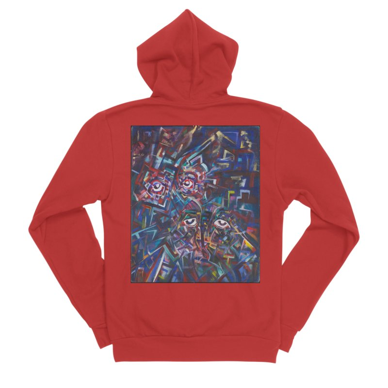 1997 Original Painting Men's Zip-Up Hoody by birdboogie's Artist Shop