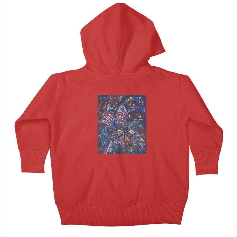 1997 Original Painting Kids Baby Zip-Up Hoody by birdboogie's Artist Shop