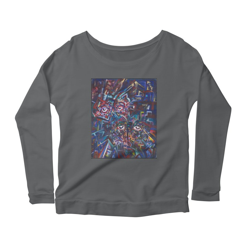 1997 Original Painting Women's Scoop Neck Longsleeve T-Shirt by birdboogie's Artist Shop