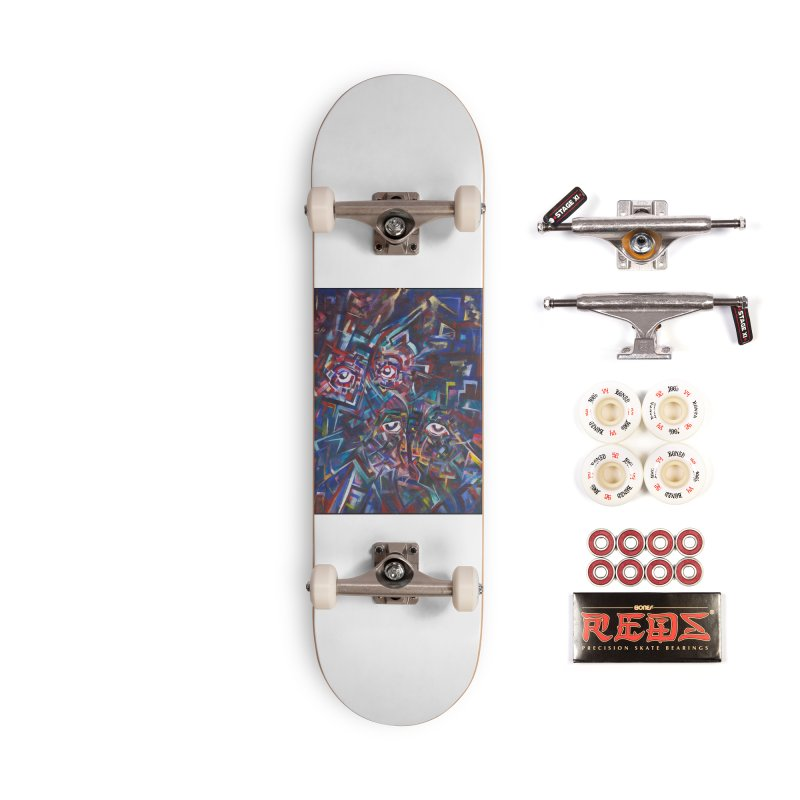 1997 Original Painting Accessories Skateboard by birdboogie's Artist Shop