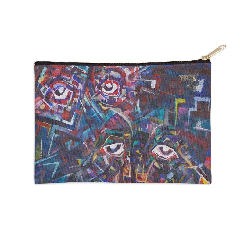 1997 Original Painting Accessories Zip Pouch by birdboogie's Artist Shop