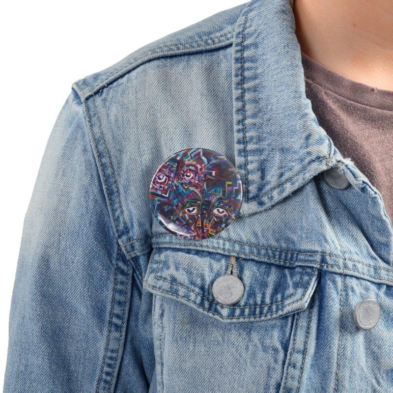1997 Original Painting Accessories Button by birdboogie's Artist Shop