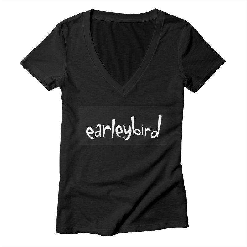 Earleybird logo Women's V-Neck by birdboogie's Artist Shop