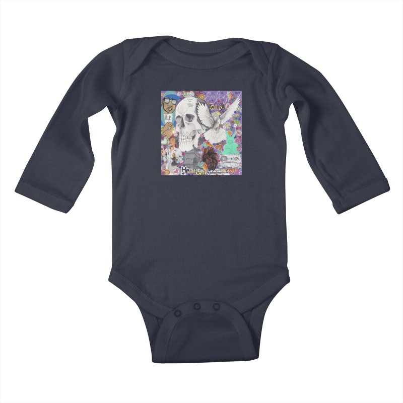 Heartbeat Photogenic Kids Baby Longsleeve Bodysuit by birdboogie's Artist Shop