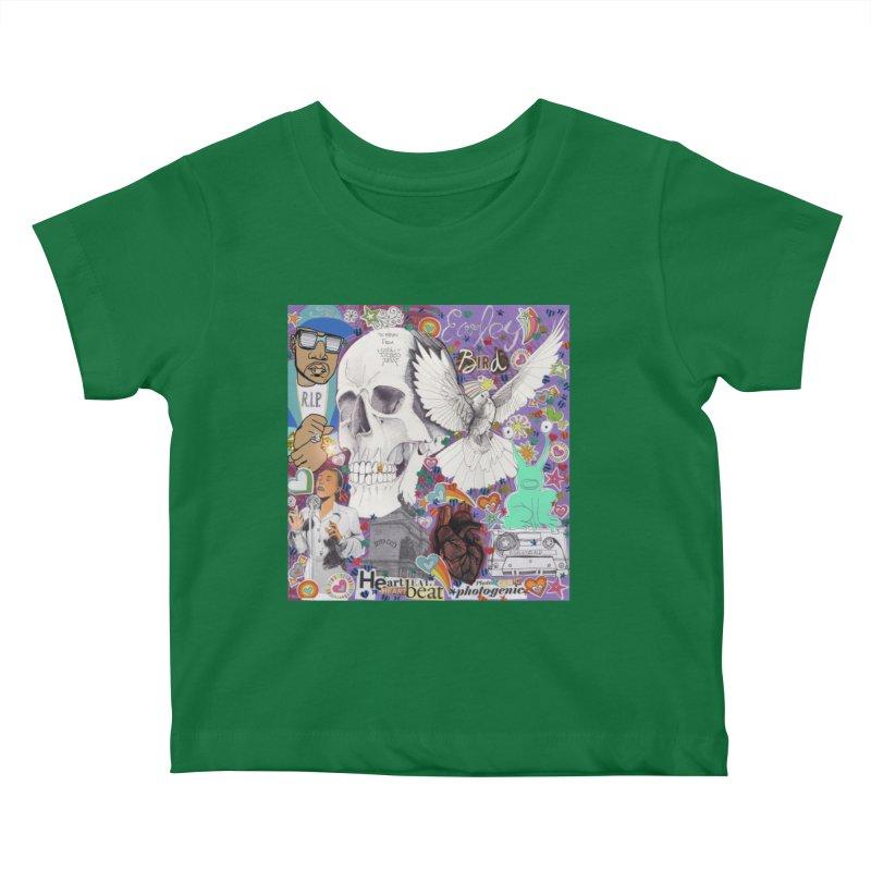 Heartbeat Photogenic Kids Baby T-Shirt by birdboogie's Artist Shop