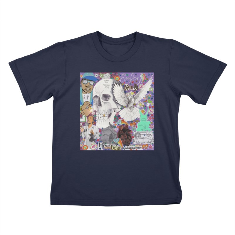 Heartbeat Photogenic Kids T-Shirt by birdboogie's Artist Shop