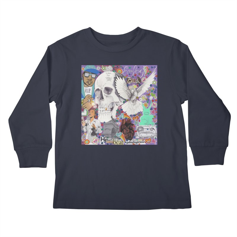 Heartbeat Photogenic Kids Longsleeve T-Shirt by birdboogie's Artist Shop