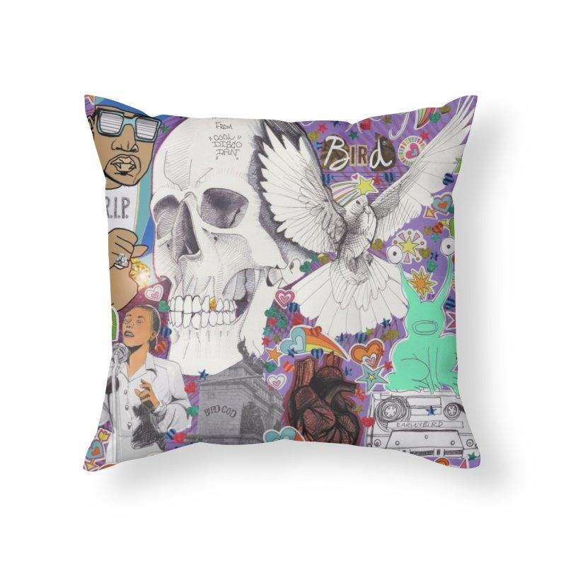 Heartbeat Photogenic Home Throw Pillow by birdboogie's Artist Shop